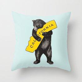 Vintage California Bear Throw Pillow