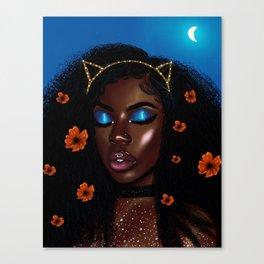 Pretty Brown Lady Canvas Print