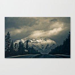 Through the Rockies Canvas Print