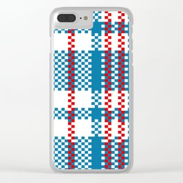 Plastic Woven Checkered Bag Clear iPhone Case