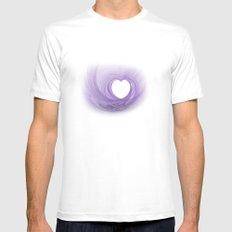 Purple Heart Mens Fitted Tee MEDIUM White