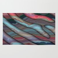 agate Area & Throw Rugs featuring Agate by RingWaveArt