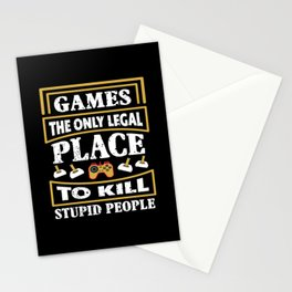 Gaming Sayings Stationery Cards