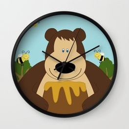 I ♥ honey Wall Clock
