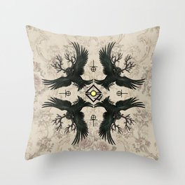 Malphas Halphas and the Murder of Crows Throw Pillow