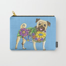 The Pugster (Blue) Carry-All Pouch