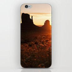 Sunrise in Monument Valley iPhone & iPod Skin