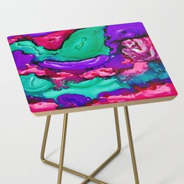 Psychedelic Grape Side Table