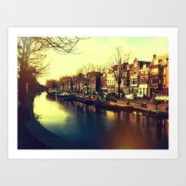 Canals in Den Haag Art Print