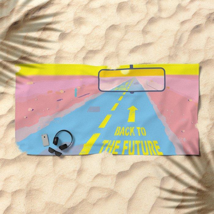 Back to the Future Beach Towel