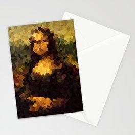 Pixelated Mona Lisa Stationery Cards
