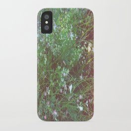 FLOWERS IN THE BRUSH iPhone Case