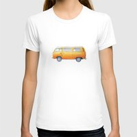 volkswagon T-shirts featuring VW Van by Camille Welsh