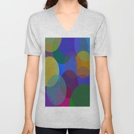 Circulos de colores Unisex V-Neck