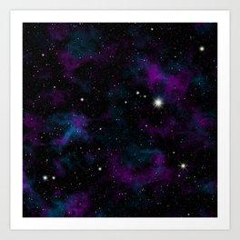 Blue and Purple Galaxy Art Print