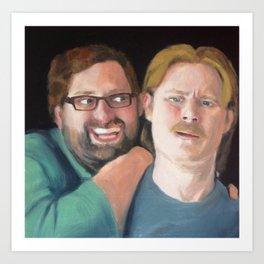 Tim and Eric Portrait Art Print