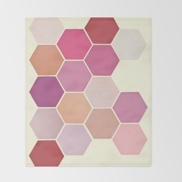 Shades of Pink Throw Blanket
