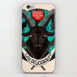 Live Deliciously Ram iPhone Skin
