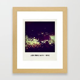 LCD Soundsystem Final Show Framed Art Print