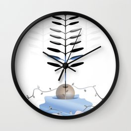 Growing is forever Wall Clock