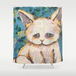 Heterochromia Kitty Shower Curtain