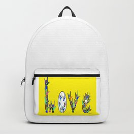 ASL LOVE HANDS TYPOGRAPHY Backpack