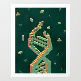 Programmable Matter (Tetris DNA) Art Print