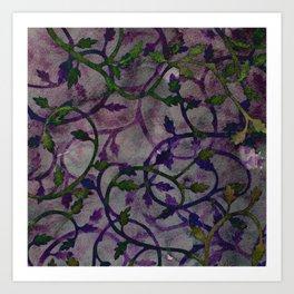 Foliage in Novembre Art Print
