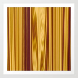 abstract stripes melting-copper Art Print
