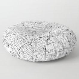 Vintage Map of Phoenix Arizona (1952) 2 BW Floor Pillow