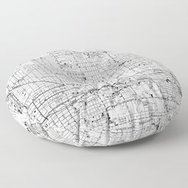 Vintage Map of Phoenix Arizona (1952) 2 BW Floor Pillow