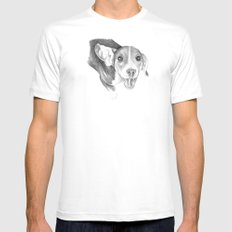 A Story To Tell :: A Beagle Puppy White Mens Fitted Tee MEDIUM