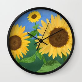 Sunflower Day Wall Clock