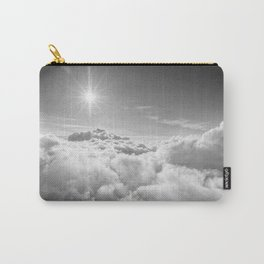Clouds Gray & White Carry-All Pouch