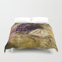 bible verse Duvet Covers featuring Truth - Verse by Anita Faye
