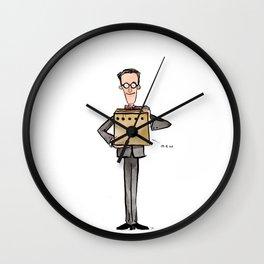 Erwin Schrödinger (and His Cat) Wall Clock