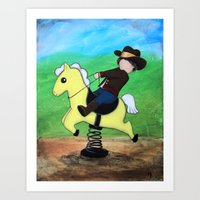"""On A Steel Horse I Ride"" Art Print"