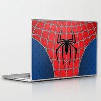 spider man Laptop & iPad Skins featuring Spider-Man by C.Rhodes Design