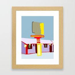 Hotel in winter Framed Art Print