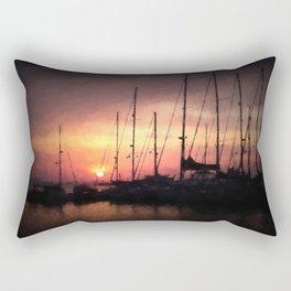 Mykonos Sunset Rectangular Pillow