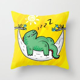 Dinosnore Throw Pillow