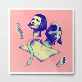 slit-her Metal Print