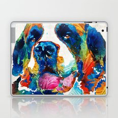Colorful Saint Bernard Dog by Sharon Cummings Laptop & iPad Skin