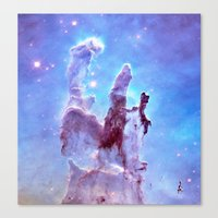 thanos Canvas Prints featuring nEBulA Pastel Blue & Lavender by 2sweet4words Designs