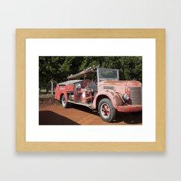 Old Fire Truck Framed Art Print