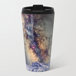 Sagitario, Scorpio and the star Antares over the hight mountains Travel Mug