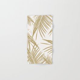 Gold Palm Leaves Dream #1 #tropical #decor #art #society6 Hand & Bath Towel
