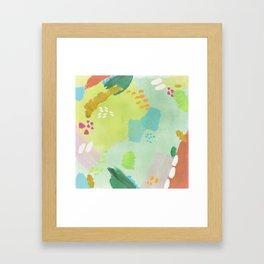 Bright Paints + Gold Framed Art Print