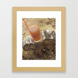 verticle this mushroom is older than you think (3) #20 Framed Art Print