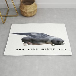 And Pigs Might Fly Rug